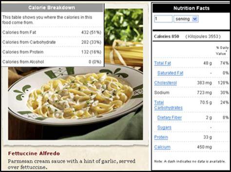 m olive garden nutrition olive garden chicken alfredo calories