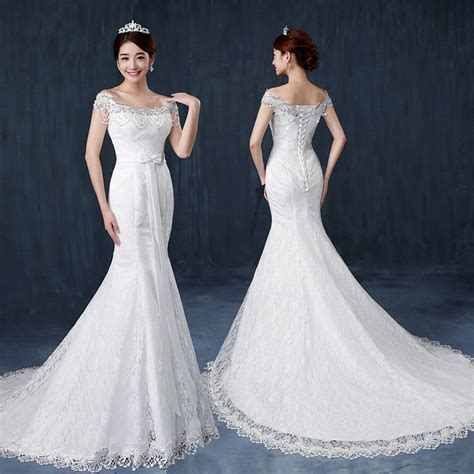 2016 latest design slimming fish tail wedding dress bridal