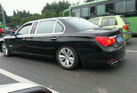 bmw in china overkill stretched bmw 7 series spotted in china