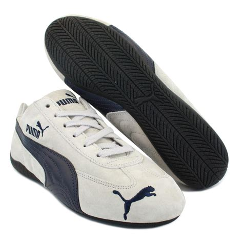 Speed Cat speed cat sd mens laced suede trainers white navy