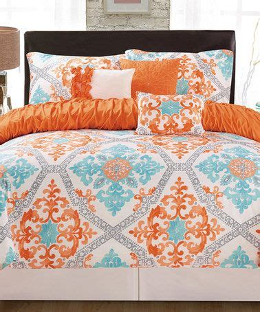 teal and orange comforter orange and teal bedding 2869