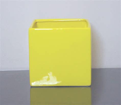 Yellow Vases Wholesale by Cr Sy555 Ceramic Cube Vase 5 Quot X 5 Quot X 5 Quot Yellow 12 P C