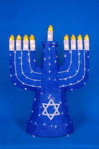 Hanukkah Outdoor Decorations Lights 36 Quot Lighted Blue Sparkling Menorah Hanukkah Yard Decoration Kimacharchau