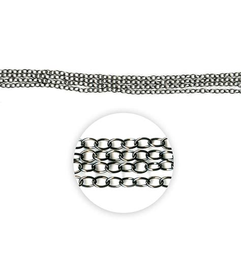 blue moon chain blue moon metal chain 5x4mm oval cable black