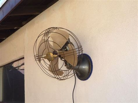 vintage wall mount fans vintage industrial 1940s ge general electric oscillating