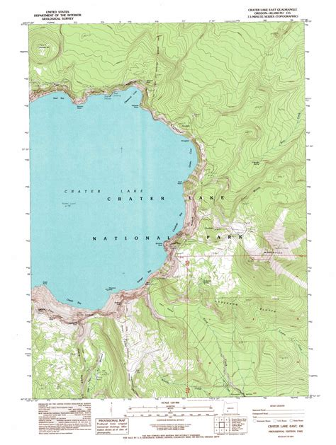 crater lake east topographic map or usgs topo 42122h1