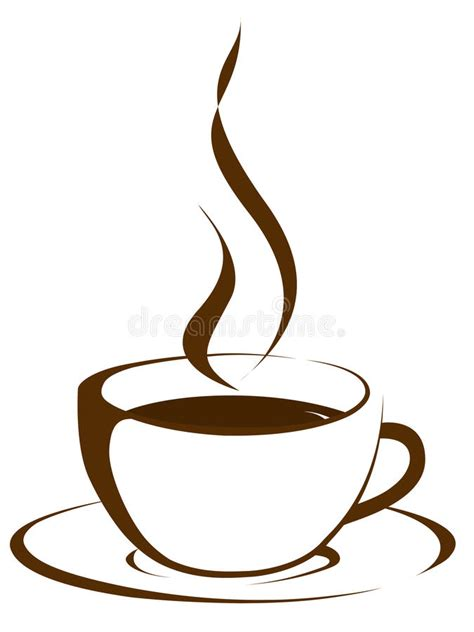 Cup of coffee with steam stock illustration. Illustration