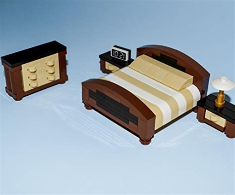 Lego Bedroom Furniture Lego Furniture Master Bedroom Collection Brown Includes Bed Dresser 2x Nightstands
