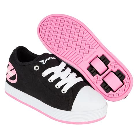 heely shoes for heelys x2 fresh wheeled roller shoe black pink