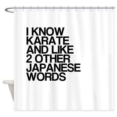 karate japanese words shower curtain by thecafemarket