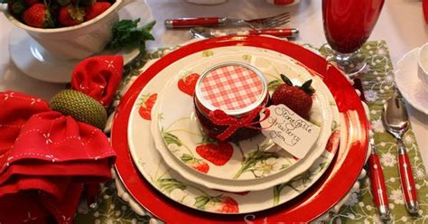 Turquoise Kitchen Ideas strawberry festival tablescape amp april cornell giveaway winner