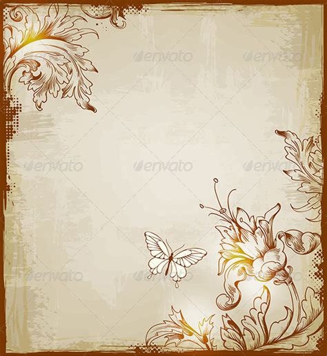 butterfly old vintage free ppt backgrounds for your vintage decorative background graphicriver