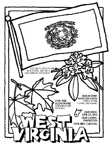 West Virginia Coloring Page Crayola Com West Coloring Pages