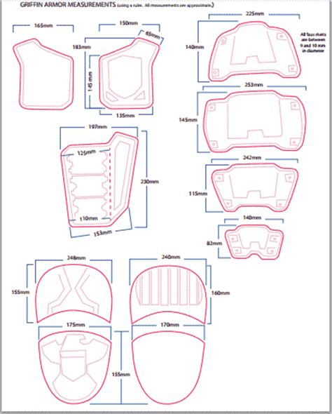 shoulder armor template pin by walker on armor