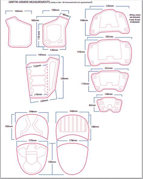 shoulder armor template dredd armored vest