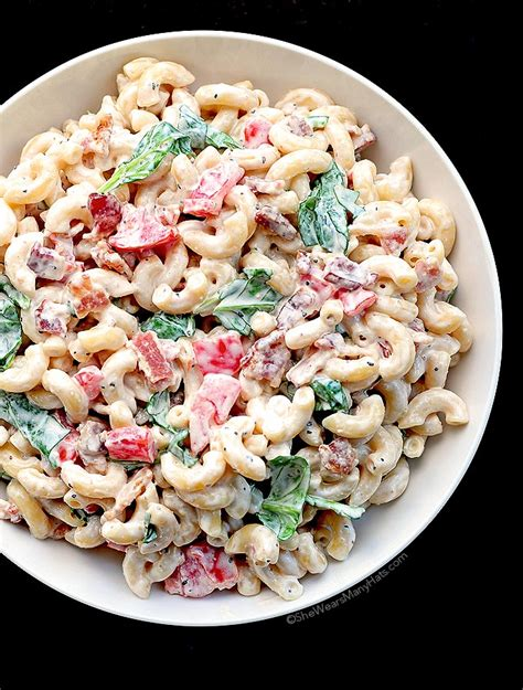 pasta salad ideas blt macaroni salad recipe best macaroni salads blt