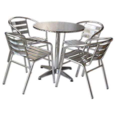 set tavoli e sedie set tavolo bar 4 sedie in alluminio impilabili san marco
