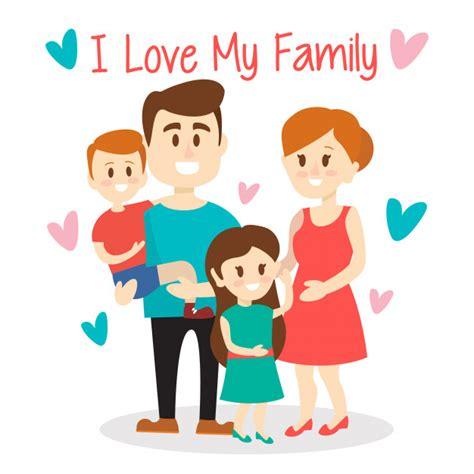 love  family cute illustration vector premium