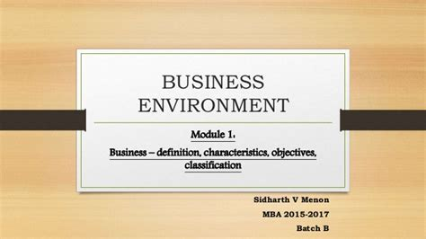 Corporate Environment Notes Mba by Business Environment Definition Objectives