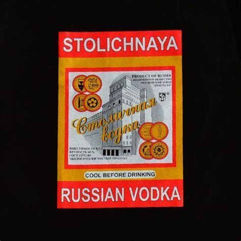 T Shirt Black Vodka russian t shirts russian stoli vodka black t shirt the