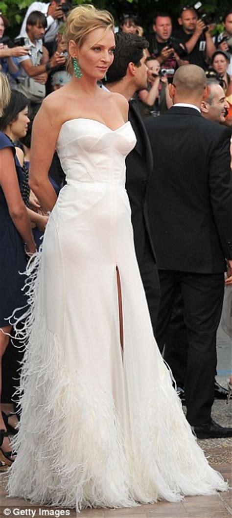 Uma Thurmans Wedding by Uma Thurman S Wedding Worthy Cannes Gown Brides