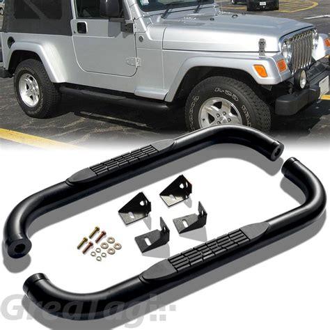 2002 Jeep Wrangler Side Steps Nerf Steps W By N Fab 2004 10 Hummer H3 Not H3t 4 Black