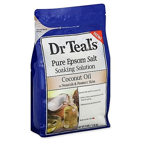 Epsom Salt And Coconut Detox Bath by Dr Teal S 174 48 Oz Coconut Soaking Solution With