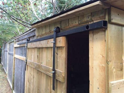 Sliding Barn Doors From Skateboard Wheels Diy Projects Exterior Sliding Barn Door Hardware Kit