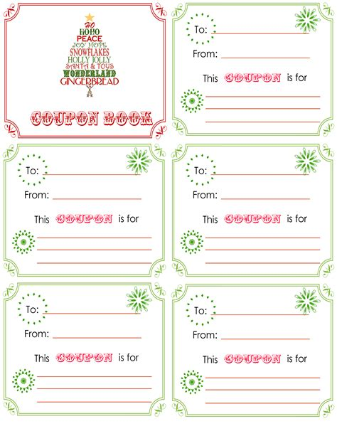 printable xmas coupons printable christmas coupon book l is getting 15 minute