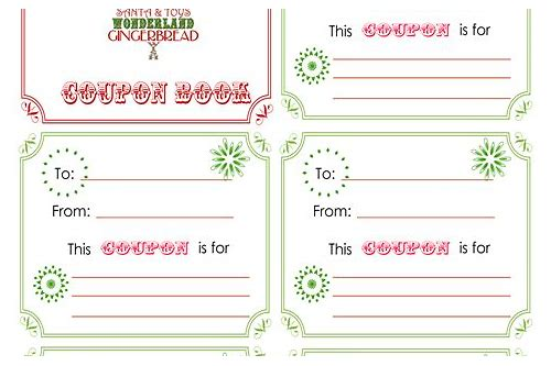 free coupon book template