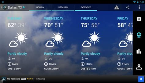 the weather channel app for android tablet 1weather tablet support and updated ui android cowboyandroid cowboy