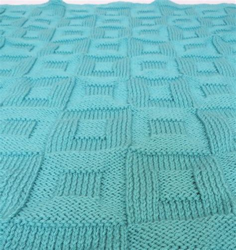 knit square patterns knit pattern knit baby blanket pattern square in a square