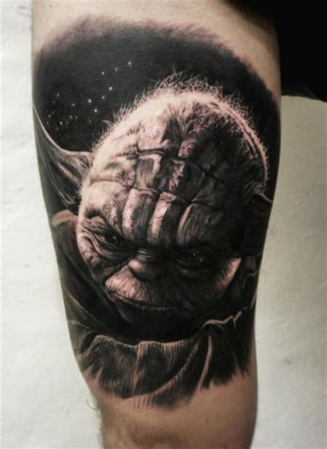 arm fantasy yoda star wars tattoo by tattoo studio 73