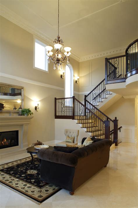 How High To Hang A Chandelier 54 Living Rooms With Soaring 2 Story Amp Cathedral Ceilings