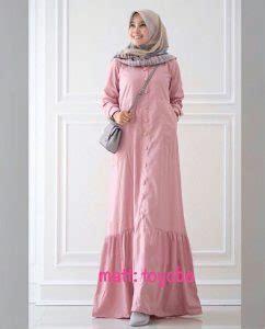 Gamis Busui Toyobo baju gamis modern polos rayna maxi busana muslim remaja