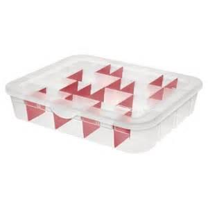 sterilite adjustable holiday ornament storage case