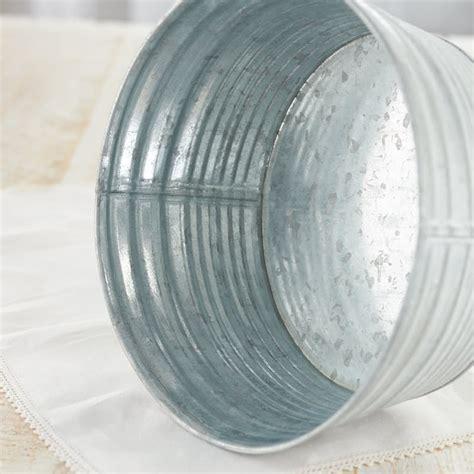 galvanized home decor round galvanized washtub baskets buckets boxes