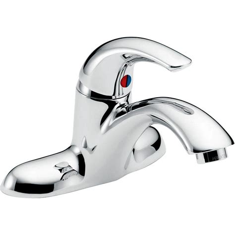 delta single handle bathroom faucet delta commercial 4 in centerset single handle bathroom