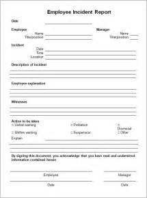 Template Incident Report 10 incident report templates word excel pdf formats