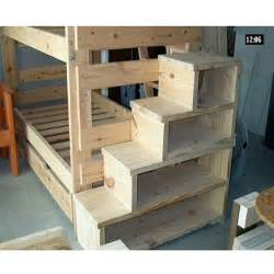 Solid wood custom made stairs for bunk or loft bed usmfs
