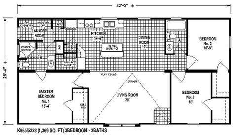 Elite House Plans Manufactured Home Floor Plan The K865 Hshire Elite