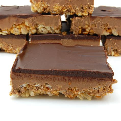 peanut butter rice krispie bars with chocolate topping peanut butter rice krispie bars with chocolate topping