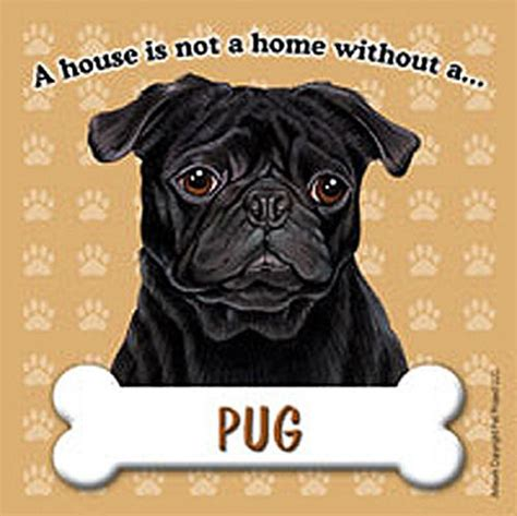 pug dog house pug dog magnet sign house is not a home black