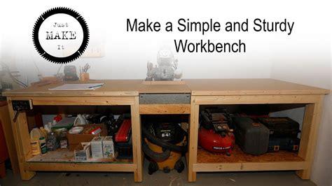 simple  sturdy  workbench youtube