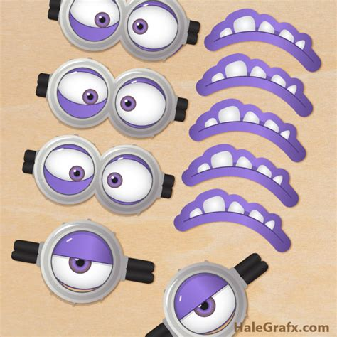 printable minion eyes and mouth free printable despicable me 2 evil minion goggles and mouths