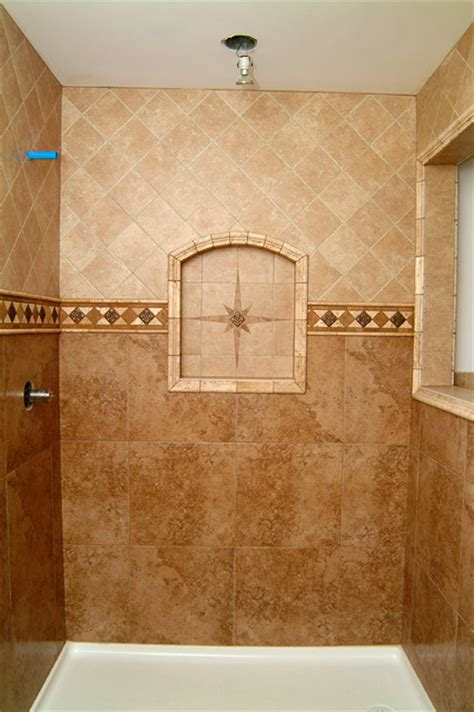 all tile bathroom preformed receseed shower niche bathroom seattle by