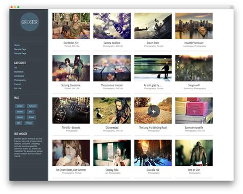 artist portfolio template 30 beautiful free portfolio themes 2018