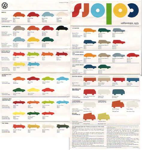 vw paint colors chart autos post