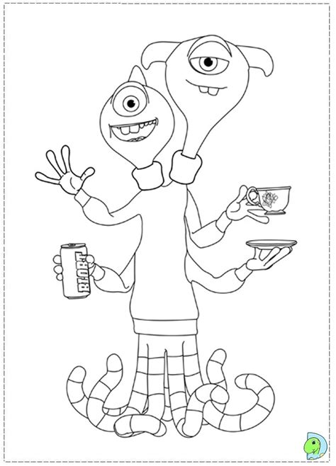 Monsters U Coloring Pages by P Nk Coloring Pages Best Free