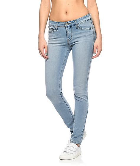 womens light wash levi jeans levi s 711 light vintage wash skinny jeans zumiez